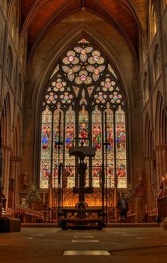 Ripon Cathedral, oldest Christian Church in England Sacred Architecture, Church Architecture, Beautiful Architecture, Beautiful Buildings, Ripon Cathedral, Cathedral Church, Stained Glass Church, Stained Glass Windows, York Minster