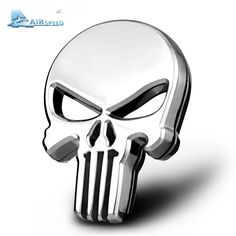 Airspeed punisher Halloween Gift 3D Skull Car Sticker Metal Ghost for Davidson motorcycle Auto Motor Sticker Badge Emblem