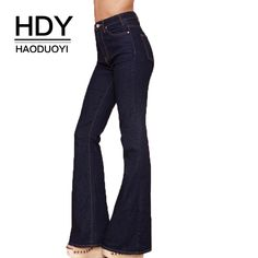 Bottoms Women's Clothing 2019 New Hot Fashion Women Solid High Waist Flare Wide Leg Chic Trousers Bell Bottom Pants Long Performance Life