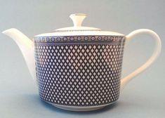 Grace's Tea ware Tea Coffee Pot w/Lid Metallic Navy Block Band New Chocolate Pots, Chocolate Coffee, Vintage Jewelry, Handmade Jewelry, Metallic, Tea Sets, Band, Mugs, Teapot