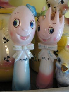 Vintage Salt Pepper Shakers