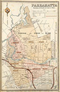 Parramatta Suburban Map - The Library Shop Sydney Map, Sydney City, Local History, Family History, Historical Sites, Historical Photos, Great Photos, Old Photos, Australia Day