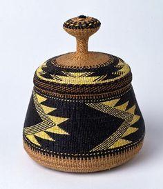 Beautiful basket created by Elizabeth Conrad Hickox (Wiyot/ Karuk), ca. 1918, California.