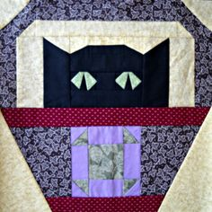 ShooFly Cat Quilt Block Pattern by CurlicueCreations on Etsy, $3.00