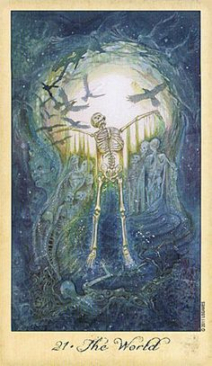 GHOSTS AND SPIRITS TAROT - The World