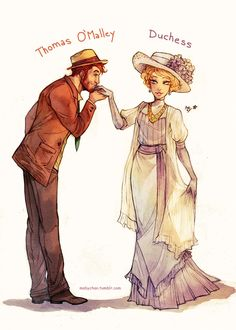 Thomas O'Malley and Duchess - The Aristocats Humanized by Maby-chan