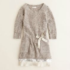 Girls Shimmer Trim Sweater Dress by J. Crew
