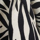 Black White Animal Chenille Upholstery Fabric - #Black, #white, Animal, Chenille, fabric, Upholstery