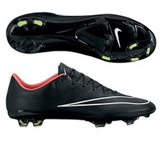 Nike Mercurial Vapor X Soccer Cleats (Black/Hyper Punch/White)