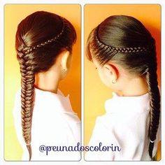 Sweet little girls hair style! Cute Little Girl Hairstyles, Baby Girl Hairstyles, Kids Braided Hairstyles, Toddler Hair Dos, Hair Designs For Girls, Peinado Updo, Hip Hair, Girl Hair Dos, Cool Braids