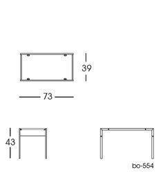 bo-554 Table 2D | Fabricius & Kastholm for bo-ex furniture. http://www.bo-ex.dk/project/bo-550/
