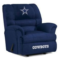 The Dallas Cowboys Big Daddy Microfiber Recliner is an epic Man Cave chair for Dallas NFL Fans!