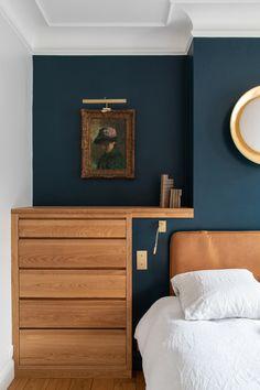 Bedroom Setup, Bedroom Green, Bedroom Decor, Interior Architecture, Interior Design, Chimney Breast, Basement Makeover, Tiny Spaces, Girl House