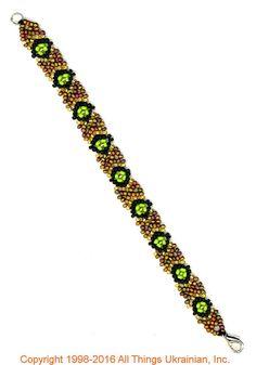 Gherdany Bead Jewelry # GBR1675  on AllThingsUkrainian.com