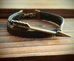 bracelets for men | Handmade bracelet for men, Arrow Leather Bracelet, handmade, bracelets ...