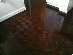 dark parquet floor stain -- I do not like the high gloss finish Old Basement, Small Basement Remodel, Basement Renovations, Basement Ideas, Basement Colors, Basement Plans, Basement Storage, Bathroom Renovations, Kitchen Remodel