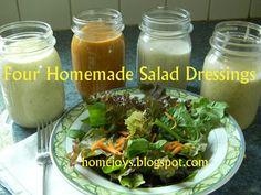 Home Joys: Four Homemade Salad Dressings