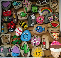 Painted rocks bring me joy! Painted rocks bring me joy! Diy Crafts To Do, Rock Crafts, Cute Crafts, Crafts For Kids, Arts And Crafts, Pebble Painting, Pebble Art, Stone Painting, Diy Painting