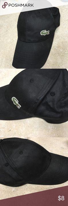 Lacoste baseball hat Black Lacoste baseball hat, worn twice - in good shape. Velcro closure Lacoste Accessories Hats