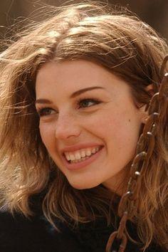 I love that smile! Jessica Pare