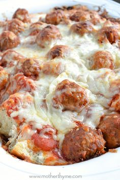 Meatball Sub Casserole | Mother Thyme