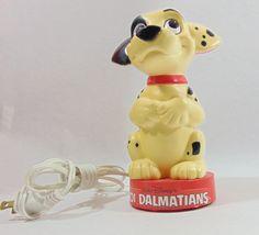1980s, Disney, Disney Light, Disney Collectibles, Vintage Lighting, Vintage Lamp, 101 Dalmations, 101 Dalmatians, Night Light, Walt Disney by DoorCountyVintage on Etsy