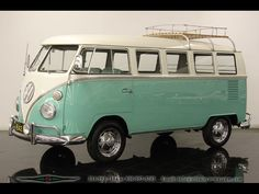 Mint Green 1964 Volkswagen Bus. Put your hands up if you remember riding around in one of these? Not for sale by Hughes Motor Products - just lovin' vintage #usedvans