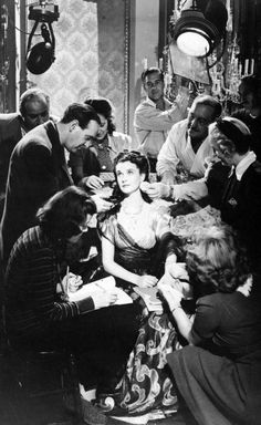 "Vivien Leigh - Set of ""That Hamilton Woman"" wearing Joseff Hollywood Jewelry"