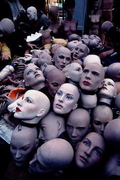 Bounch of heads, Paris Flea Market #heads #teste - Carefully selected by GORGONIA www.gorgonia.it