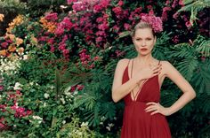 A Place in the Sun - The look is languid—and very grown-up. This Balmain handkerchief-hem jersey minidress ($2,500; Bergdorf Goodman, NYC) lends a harem/boudoir effect. Jungle-red manicure optional—but highly recommended.  Fashion Editor: Camilla Nickerson