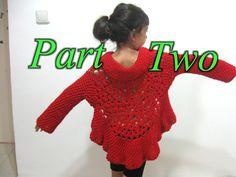 Butterfly Stitch Circular Jacket - Part 2 - Crochet Tutorial  inspiration
