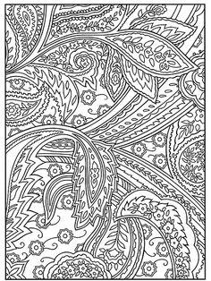 Paisley Designs Coloring Book