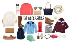 """""""Fall Neccesities"""" by preppypresly ❤ liked on Polyvore featuring Tory Burch, Longchamp, L.L.Bean, Hunter, Vineyard Vines, J.Crew, Kate Spade, Essie, MICHAEL Michael Kors and Harding-Lane"""