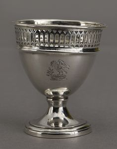 One of a set of silver egg cups made by Matthew Boulton at the Soho Manufactory in 1789-90.