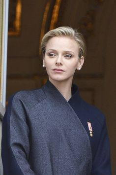 Princess Charlene of Monaco attends Monaco National Day 2013 - Balcony Parade