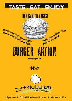 Burger Aktion im August