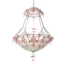 Flowering Basket Crystal Chandelier in Custom Colors from PoshTots