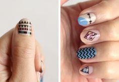 Water Decal Designer Nail Art #nails | See more nail designs at http://www.nailsss.com/...
