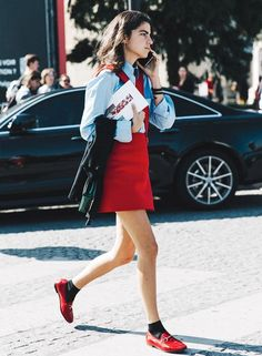 leandra-medine-street-style-mocassim-flat-red-look