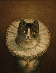 I don't think there are too many cats that would tolerate this...however, this picture has hung in the Boston Public Library for decades.