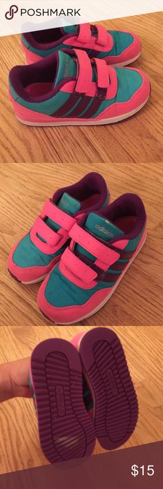 Adidas girl's sneaker Very easy to put on,used condition beautiful color.clean and smoke free home Adidas Shoes Sneakers