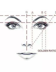 Golden Mean CALIPERS Eyebrow Microblading Permanent Makeup Ratio Measurement Tool Fibonacci Gauge Symmetrical Tattoo Ruler Face Drawing Reference, Drawing Tips, Sketch Drawing, Drawing Ideas, Symmetrical Tattoo, Makeup Tips, Eye Makeup, Eyebrow Makeup Tutorials, Makeup Ideas