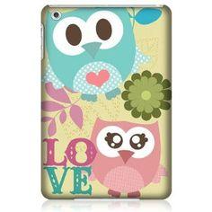 Amazon.com : Head Case Kawaii Pink & Green Love Owl Back Case Cover For Apple iPad mini Wi-Fi : Computers & Accessories