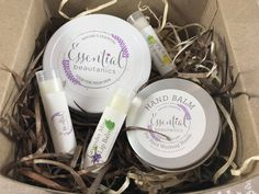 Winter Protection!  Whipped Butter, Hand Balm and 3 Lip Balms. Affordable gift set