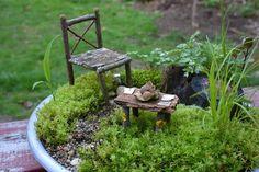 DIY make your fairy garden furniture