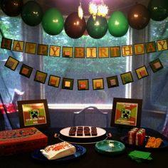 Minecraft birthday party- Z would love this for his party