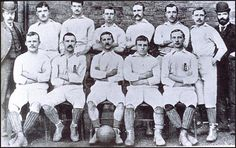 Blackburn Rovers won the FA Cup in 1891. From left to right, back row: RichardBirtwistle, Tom Brandon, Rowland Pennington, John Barton, Jack Southworth,George Dewar, James Forrest, E. Murray. Front row: Joseph Lofthouse,Nathan Walton, Johnny Forbes, Coombe Hall and Billy Townley.