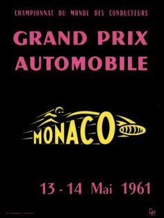 095GP - XIX Grand Prix Automobile de Monaco POSTER 1961