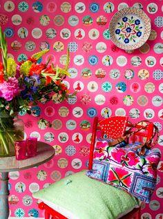 Geweldig leuk heerlijk tof kleurrijk en vrolijk behang!