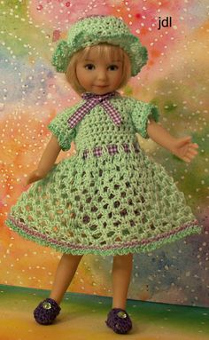 """Peridot Purple for Heartstring Grace 8"""" Dinna Effner Doll by JDL Doll Clothes"""